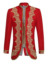 Prince Fairytale Uniforms Cosplay Costumes Male Halloween Christmas Carnival New Year Festival/Holiday Halloween Costumes Red Solid