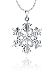 Women's Pendant Necklaces Crystal Geometric Snowflake Sterling Silver Crystal Imitation Diamond Basic Unique Design Logo Style Dangling