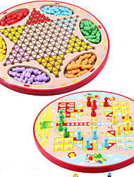 Board Game Chess Game Paternity Games Educational Toy Toys Circular Wood Pieces Children's Kids Unisex Gift