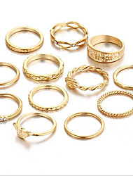 cheap -Women's Alloy Ring Set - Vintage Gold Ring For Daily