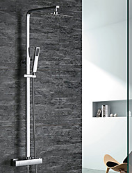 cheap -Shower Faucet - Contemporary Art Deco / Retro Modern Chrome Shower System Brass Valve