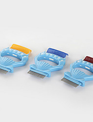 Cat Dog Grooming Cleaning Comb Waterproof Portable Low Noise Double-Sided Foldable Massage Yellow Coffee Blue