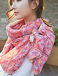 cheap -Korea Cotton and Linen Retro Scarf Shawl Thin Long Rectangle Women's Beach UV Sunscreen Bohemia Retro Print Scarves