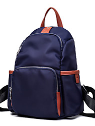 Women Bags All Seasons Canvas Backpack for Shopping Casual Formal Outdoor Office & Career Blue Black
