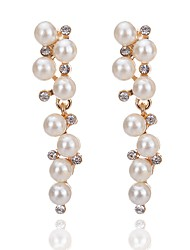 Drop Earrings Imitation Pearl Unique Design Crystal Imitation Pearl Alloy Drop Jewelry For Party Daily Casual 1 pair