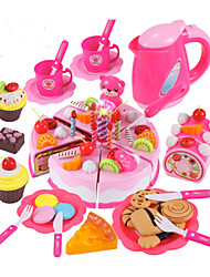 cheap -Toy Kitchen Sets Toy Food / Play Food Pretend Play Toy Circular Cake & Cookie Cutters Cake PVC Girls' Boys' Kid's Gift