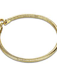 Per donna Da ragazza Bracciali a catena e maglie Cristallo Amicizia Di tendenza Placcato in oro A tubo Gioielli Per Matrimonio Feste