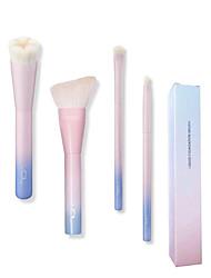 baratos -4pçs Profissional Pincéis de maquiagem Conjuntos de pincel / Pincel para Base / Pincel para Sombra Escova de Fibra Artificial / Pêlo