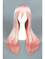 Long Straight Super Sonico Pink Mixed Synthetic 24inch Anime Cosplay WigsCS-212A