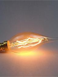 Недорогие -Ac220-240v e14 c35 40w украшение хвоста ретро источник света 1шт