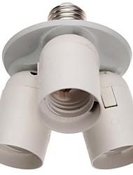 Portador de lâmpada e27 / e40 a 3e27 convertido em um suporte de três lâmpadas