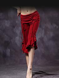 economico -Danza del ventre Pantaloni Per donna Addestramento Cotone Ruches Drappeggi 1 pezzo Cadente Pantaloni