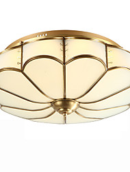 Full Copper  Crystal Ceiling Bedroom Living Room Crystal Ceiling Lamp D
