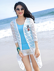 New spring and summer beach sun protection clothing coat sleeve knit cardigan shawl long section of thin air-conditioned shirt