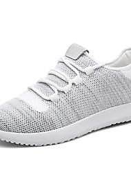 economico -Da uomo Sneakers Comoda Tulle Primavera Estate Autunno Inverno Sportivo Casual Corsa Comoda Lacci Piatto Nero Beige Grigio Piatto