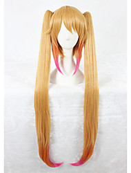 cheap -Synthetic Wig Straight With Ponytail Brown Women's Capless Cosplay Wig Long Synthetic Hair