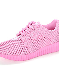 Women's Mesh Sneakers Summer Fall Comfort Light Soles Tulle Casual Lace-up