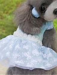 economico -Cane Vestiti Abbigliamento per cani Romantico Di pizzo Viola Verde Rosa Costume Per animali domestici