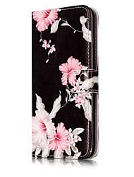 Недорогие -Назначение iPhone X iPhone 8 Чехлы панели Бумажник для карт Кошелек со стендом Флип С узором Магнитный Чехол Кейс для Цветы Твердый