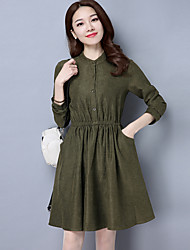 Sign 2017 early spring new lace long-sleeved dress loose waist was thin dress