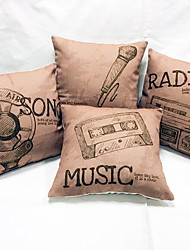 1 pçs Linho Almofada de Vigem almofada do sofá Almofada Inovadora Fronha Almofada de Corpo,Inovador Vida Imóvel Estampas Abstratas