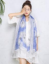 Beach Sunscreen Silk Chiffon Female Mmother Thin Long Scarf Shawls Rectangle Print Women's
