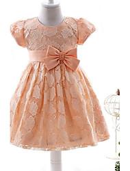 abito di sfera breve / mini vestito dalla ragazza del fiore - il collo del gioiello dei manicotti del bicchierino di organza da ydn