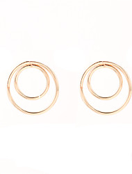 cheap -Non Stone Round Stud Earrings Jewelry Circular Design Euramerican Fashion Personalized Daily Casual Alloy 1 pair