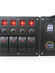 economico -rosso iztoss led dc12v 4 banda on-off a bilico pannello curvo e interruttore con etichetta adesivi e blu principale presa usb 3.1ae dc12v