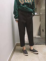 fitta texture morbida è super pantaloni casual dio pantaloni di camoscio nove punti tuta di lana harem pants
