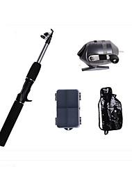 Mini Rod / Pen Rod Iso Rod Fishing Rod Fly Rod Casting Rod Casting Rod FRP 165 cm Sea Fishing Fly Fishing Ice Fishing 5 sections Rod &