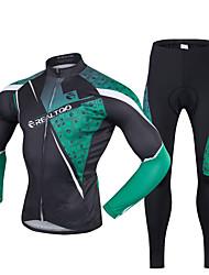 Realtoo Fahrradtrikots mit Fahrradhosen Herrn Langarm Fahhrad Kleidungs-Sets Rasche Trocknung UV-resistant Reißverschluß vorne
