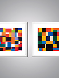 Framed Art Print Abstract Leisure Traditional Realism,Two Panels Canvas Square Print Wall Decor For Home Decoration