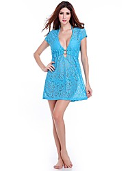 Women's Fashion Sexy Lace Perspective Beach Cover-Up