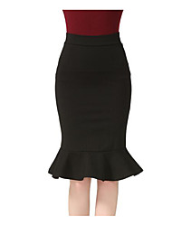 cheap -Women's Classic & Timeless Skirt Skirts - Solid Color