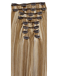 cheap -20-26inch (10pcs)/set Brazilian Hair 10 Colors Double Wefts Clip In Straight Clip In Human Hair Extensions