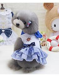 abordables -Perro Abrigos Ropa para Perro Caricatura Azul / Rosa Algodón Disfraz Para mascotas Verano Hombre / Mujer Casual / Diario