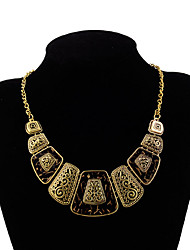 cheap -Women's Square Shape Sexy Euramerican Fashion Statement Necklace Multi-stone Resin Alloy Statement Necklace Wedding Party Special
