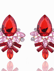 cheap -Women's Stud Earrings Crystal Geometric Crystal Alloy Geometric Jewelry Party Daily Casual Costume Jewelry