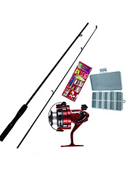 Fishing Rod Fly Rod Mini Rod / Pen Rod Iso Rod Surf Rod FRP 165 cm Sea Fishing Fly Fishing Ice Fishing 2 sections Rod & Reel Combos Fast