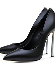 Damen Schuhe Leder Sommer Herbst High Heels Walking Stöckelabsatz Spitze Zehe Für Schwarz Beige Rosa