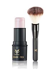 1Pcs Face Makeup Highlighter Shimmer Stick Contour Waterproof Powder Highlighting Bronzer With Brush Set