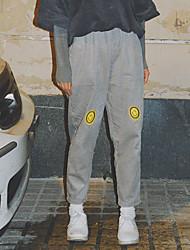 firmare la Corea per età era sottili pantaloni di velluto ricamato smiley allentato pantaloni harem femminile sorella morbido studente