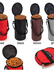 cheap -L Cat Dog Bowls & Water Bottles Pet Bowls & Feeding Portable Foldable Black Gray Coffee Red