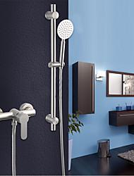 Недорогие -Смеситель для душа - Современный Матовый никель Только душ Керамический клапан Bath Shower Mixer Taps / Нержавеющая сталь / Одной ручкой Два отверстия