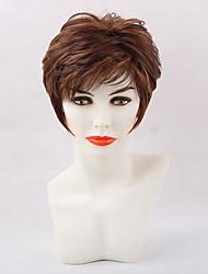 MAYSU Women Synthetic Wig Short Natural Wave Black/Medium Auburn Natural Wigs Halloween Wig Carnival Wig Costume Wig