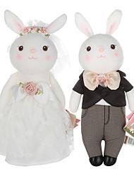 Décoration Jouets Rabbit Animaux Robe de mariée Garçon Fille 2 Pièces