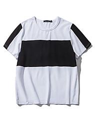 Slim Korean version of the big striped men's short-sleeved T-shirt Aberdeen Wind