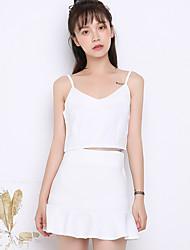 Zeichen des Sommers neue koreanische weibliche Taille Leibchen Anzug war dünn Paket Hüfte Rock Stück