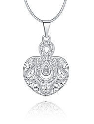 cheap -Women's Geometric Infinity Luxury Unique Design Logo Style Dangling Style Love Pendant Necklace Crystal Sterling Silver Crystal Imitation